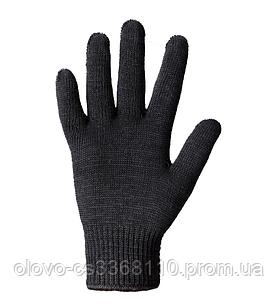 Рукавиці Теплі подвійні без ПВХ чорні (540)