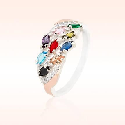 Серебряное кольцо с золотыми пластинами, фото 2