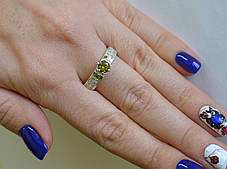 Серебряное кольцо с золотыми напайками, фото 3