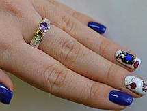 Серебряное кольцо с золотыми напайками, фото 2