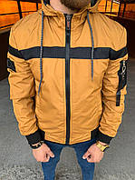 Мужская куртка горчичная Black 34-550, фото 1