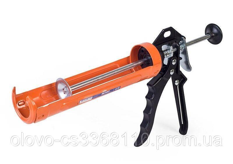 Пістолет Miol для видавлювання силікону, алюмінієва ручка (09-155)