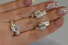 Набор серебряный с золотыми пластинами и фианитами, фото 3