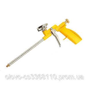 Пістолет для монтажної піни з пластиковою ручкою, нікелеве покриття, 4 насадки Budmonster (ВМ-110)