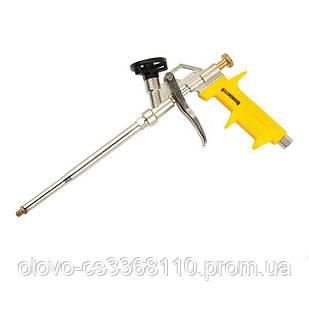 Пістолет для монтажної піни, оцинкований корпус, нікельоване покриття, тефлоновий адаптер, 4 насадки Budmonster (ВМ-140)