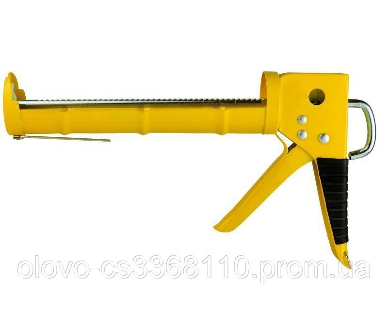 Пістолет для герметиків з трещеткой 225 мм, напівзакритий (2723081)
