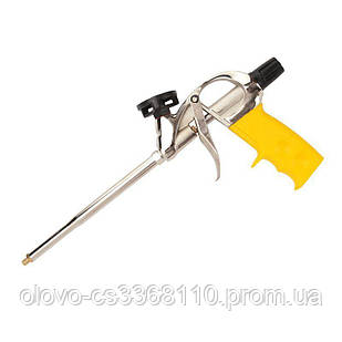 Пістолет для монтажної піни, алюмінієвий корпус, нікельоване покриття, тефлон, адаптер + 4 насадки (ВМ-121)