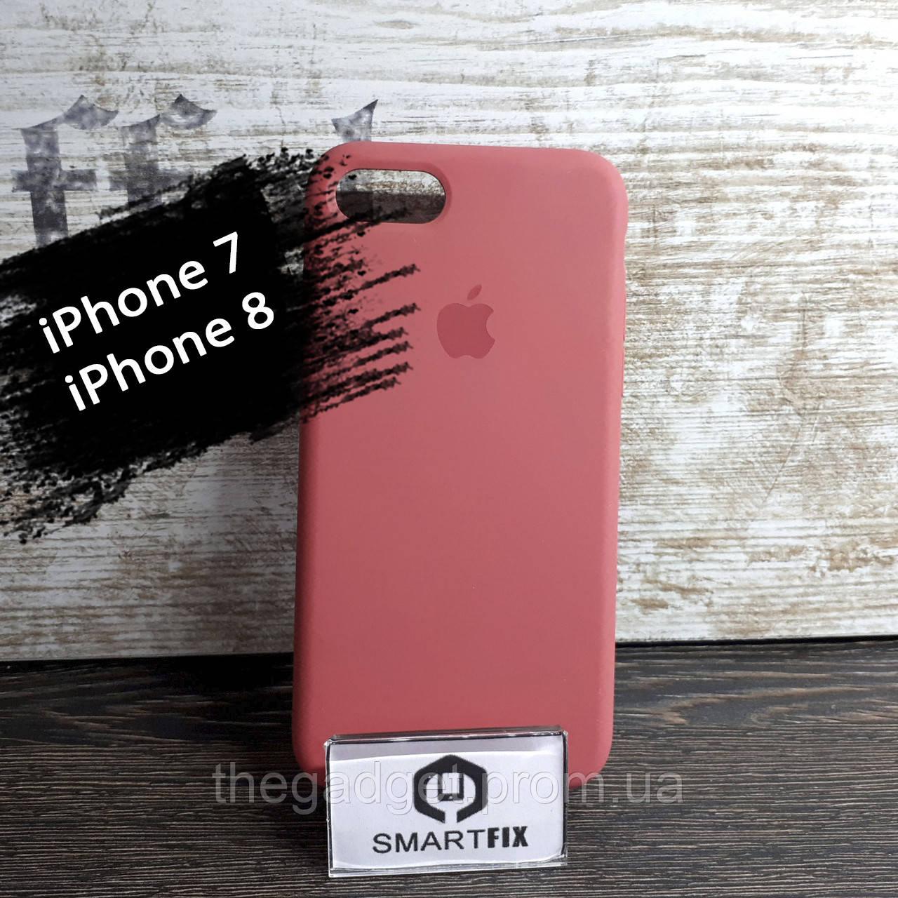 Силиконовый чехол для iPhone 7 / iPhone 8 Soft Бледно-розовый
