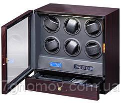 Шкатулка для подзавода часов, тайммувер для 6-и часов Rothenschild RS-206-LE, фото 3
