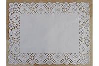 Салфетки бумажные прямоугольные ажурные Ø 350*450 мм (уп 100 шт) 050000141