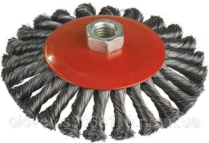 Щітка конусна Miol пучки крученого дроту 100 мм (06-487)