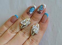 Серебряные серьги с золотыми пластинами, фото 3