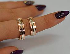 Обручальное кольцо из серебра с золотом, фото 3