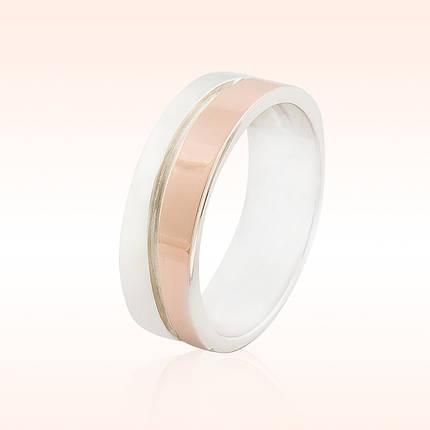 Обручальное кольцо из серебра, фото 2