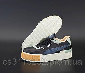 Женские кроссовки Puma Select Cali Sport Mix Black Blue3 (черные)