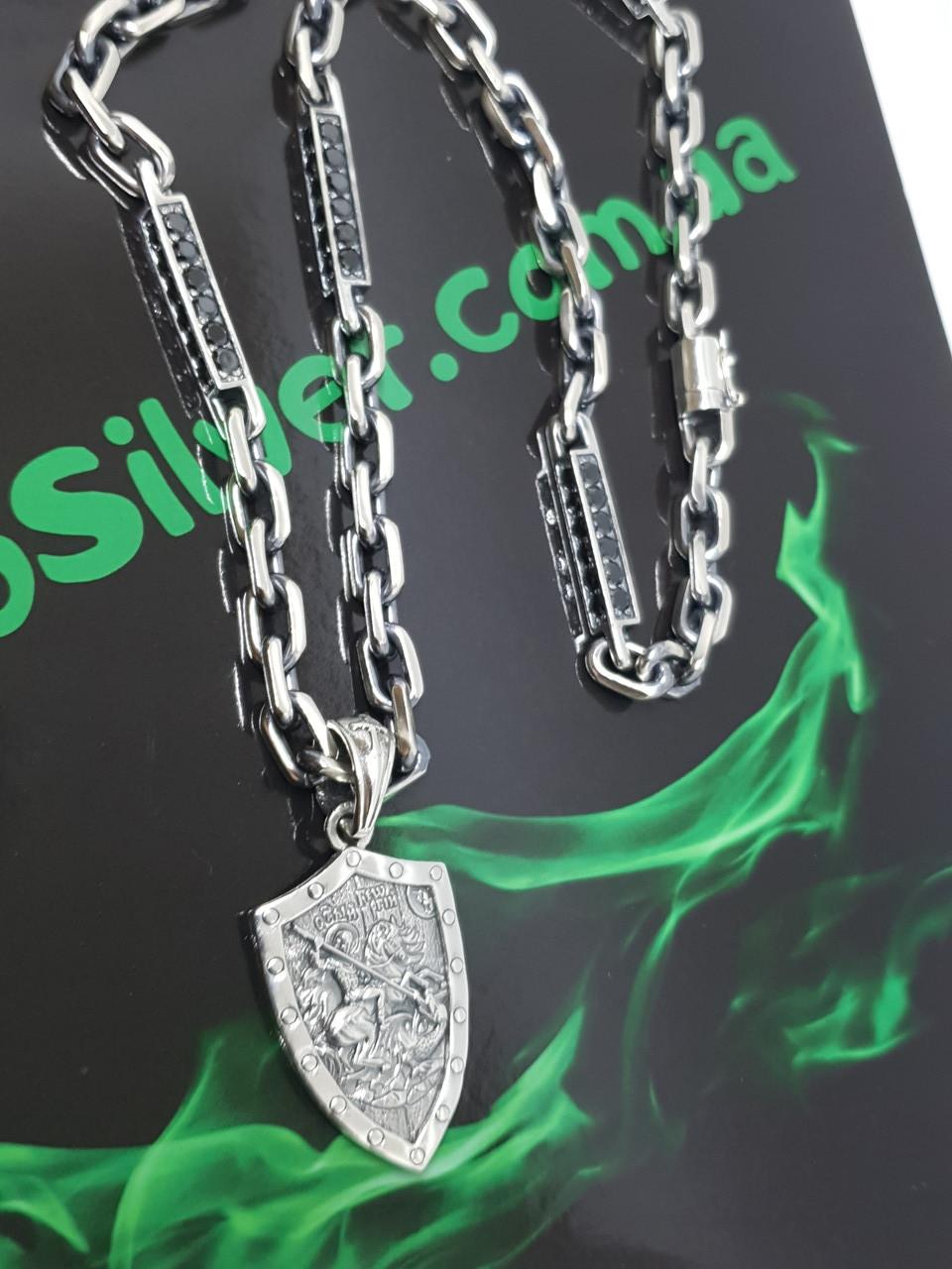 Серебряная цепочка с кулоном
