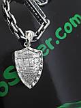 Серебряная цепочка с кулоном, фото 5