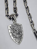 Серебряная цепочка с кулоном, фото 7
