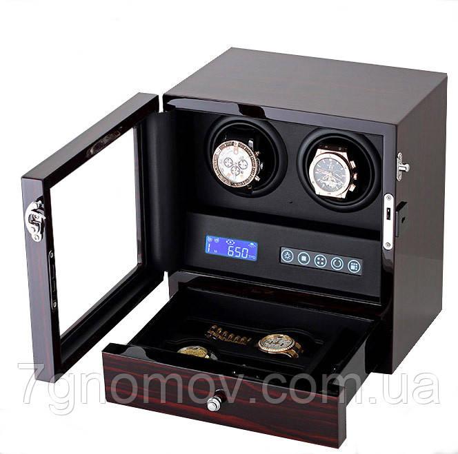 Шкатулка для подзавода часов, тайммувер для 2-х часов Rothenschild RS-202-LE