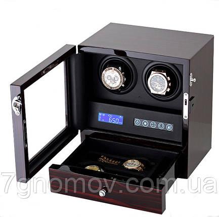 Шкатулка для подзавода часов, тайммувер для 2-х часов Rothenschild RS-202-LE, фото 2