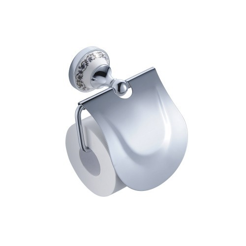 Держатель туалетной бумаги с крышкой(ЛАТУНЬ)Kraus, фото 1