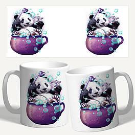 """Чашка с принтом """"Красивый АРТ панда"""""""