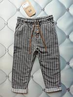 Штаны для девочки Стильные полоски, трикотаж, Турция, 3-4 года