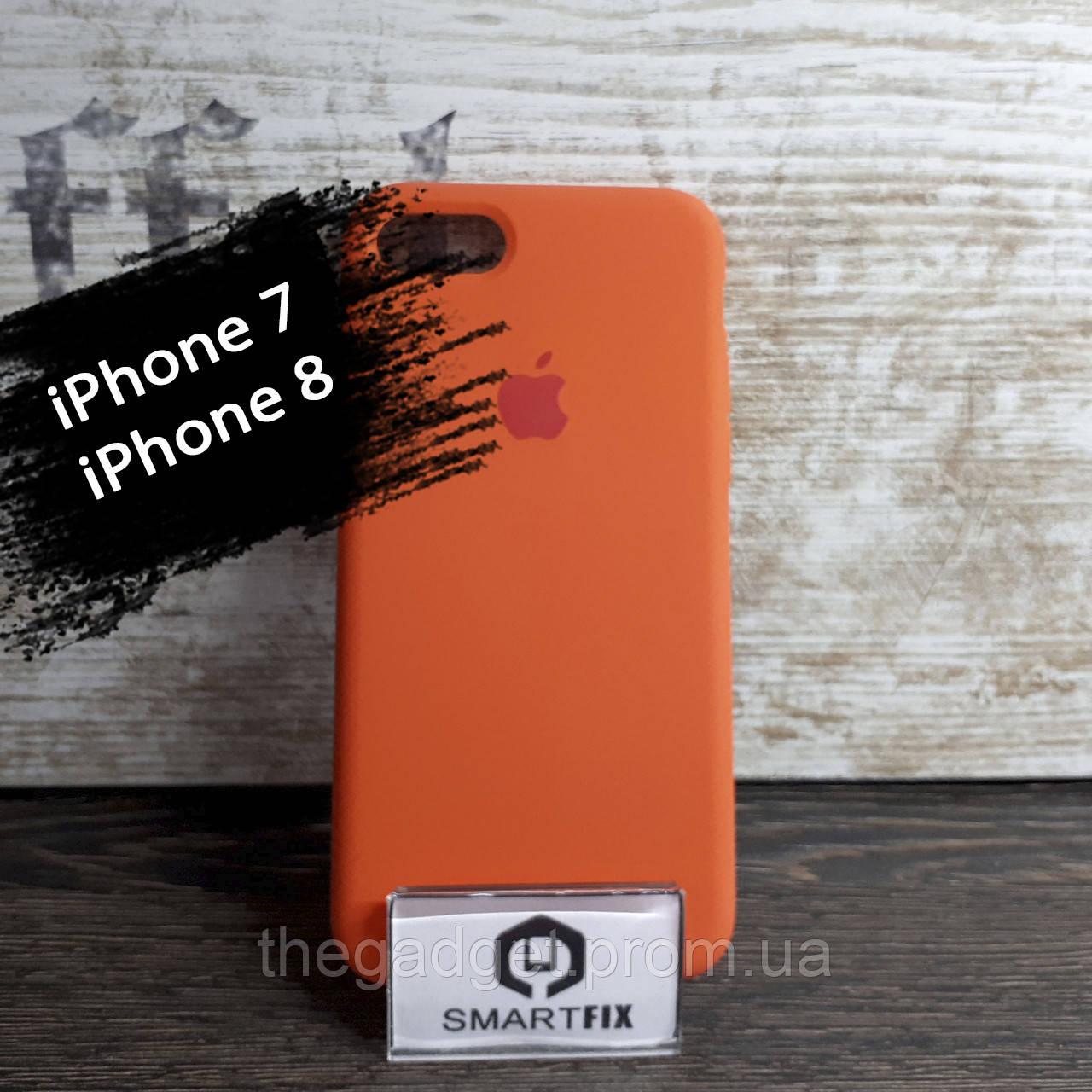 Силиконовый чехол для iPhone 7 / iPhone 8 Soft Оранжевый