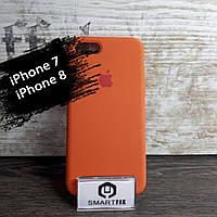 Силиконовый чехол для iPhone 7 / iPhone 8 Soft Оранжевый, фото 1