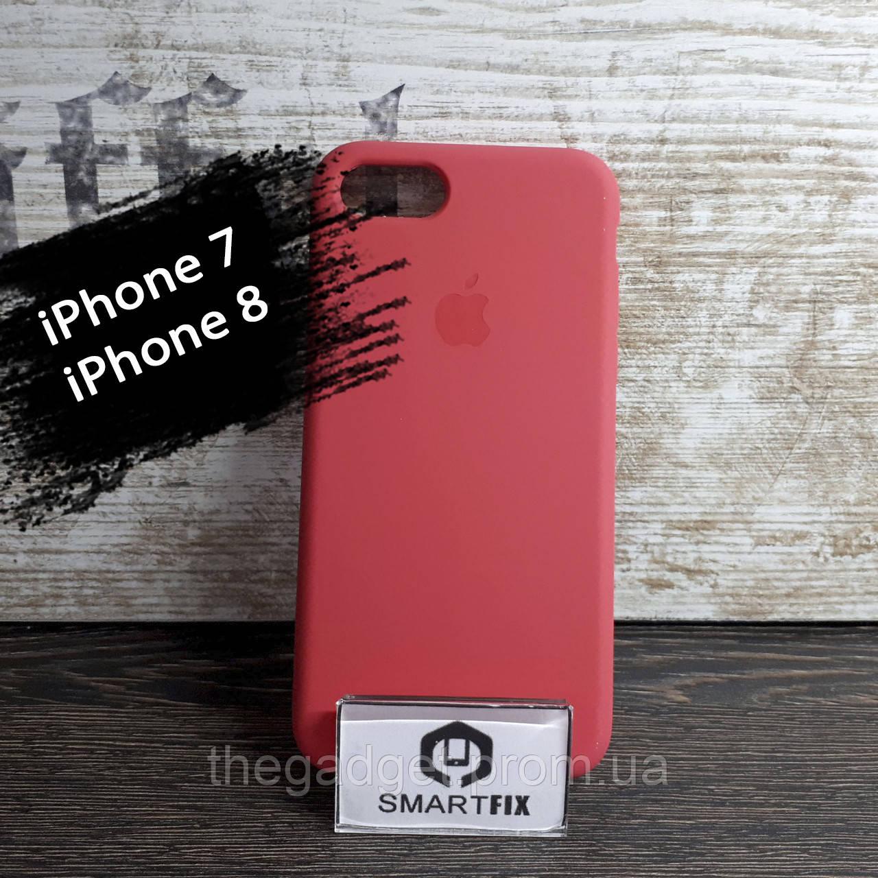 Силиконовый чехол для iPhone 7 / iPhone 8 Soft Кораловый