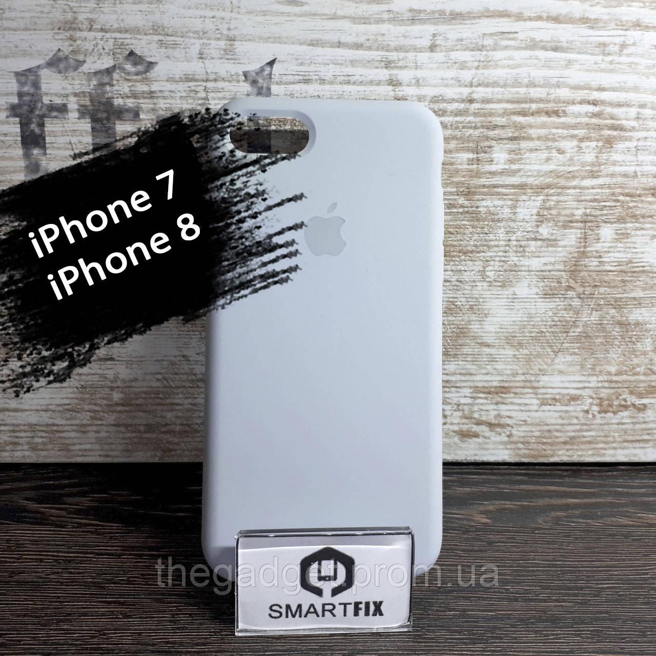 Силиконовый чехол для iPhone 7 / iPhone 8 Soft Бледно-голубой