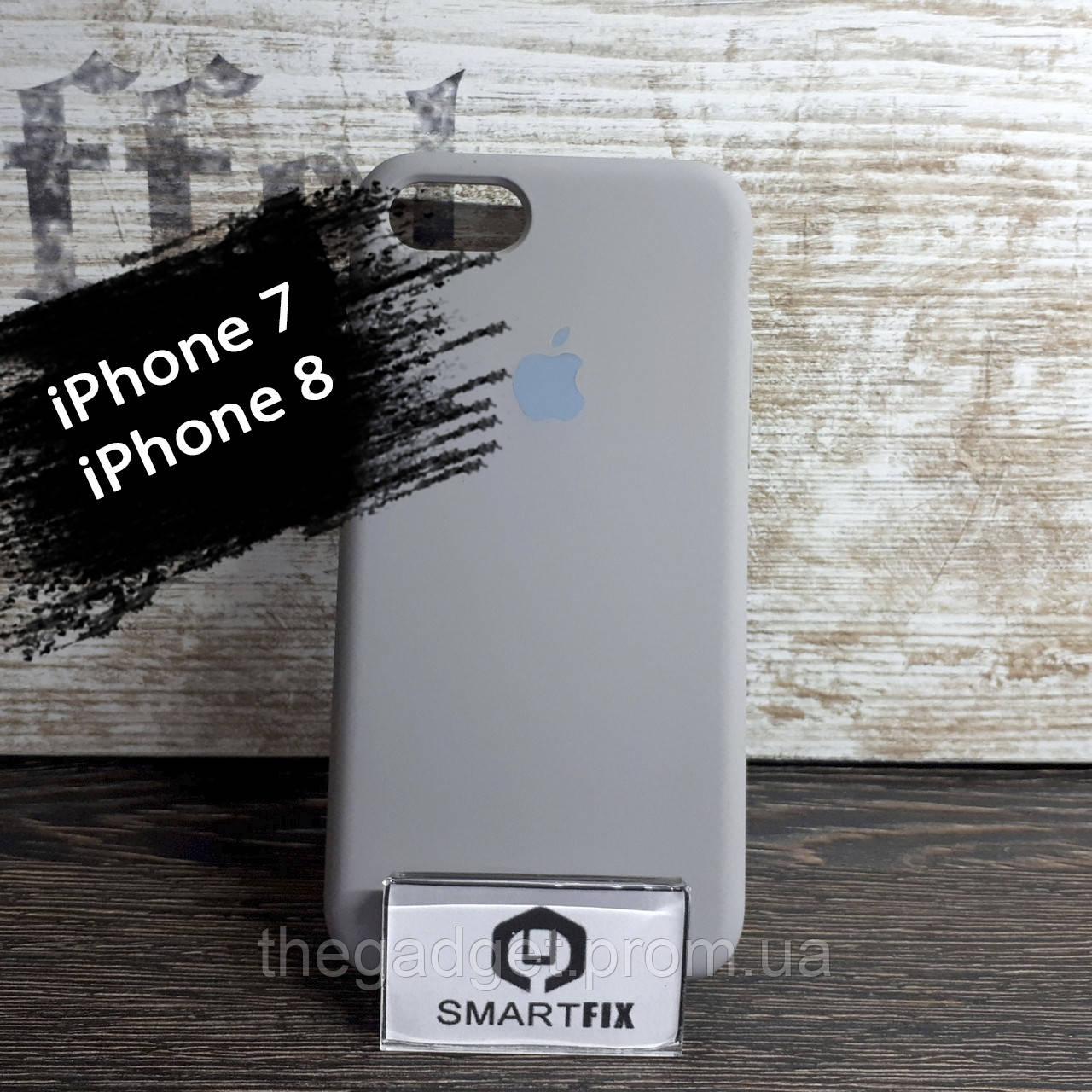 Силиконовый чехол для iPhone 7 / iPhone 8 Soft Серый