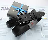 Ремень мужской с черной пряжкой Calvin Klein черный, фото 1