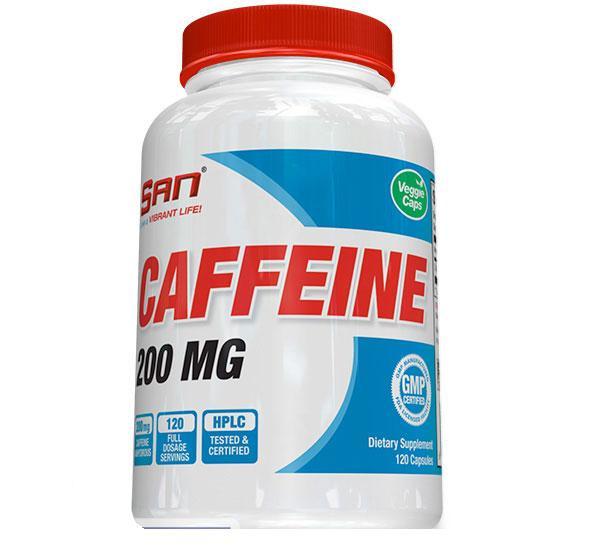 Кофеин SAN Caffeine 200 mg (120 caps)