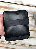 Сумка мессенджер на плечо Tommy Hilfiger Black, фото 1