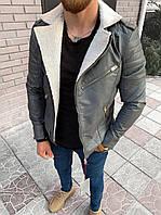 Мужская косуха серая 78-112, фото 1