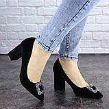 Женские туфли на каблуке черные Angie 1921 Размер 37 - 24 см, фото 2
