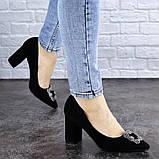 Женские туфли на каблуке черные Angie 1921 Размер 37 - 24 см, фото 8