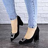 Женские туфли на каблуке черные Angie 1921 Размер 37 - 24 см, фото 3