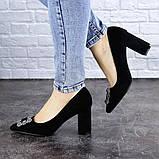Женские туфли на каблуке черные Angie 1921 Размер 37 - 24 см, фото 5
