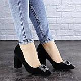 Женские туфли на каблуке черные Angie 1921 Размер 37 - 24 см, фото 7