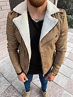 Мужская косуха бежевая 78-115, фото 1