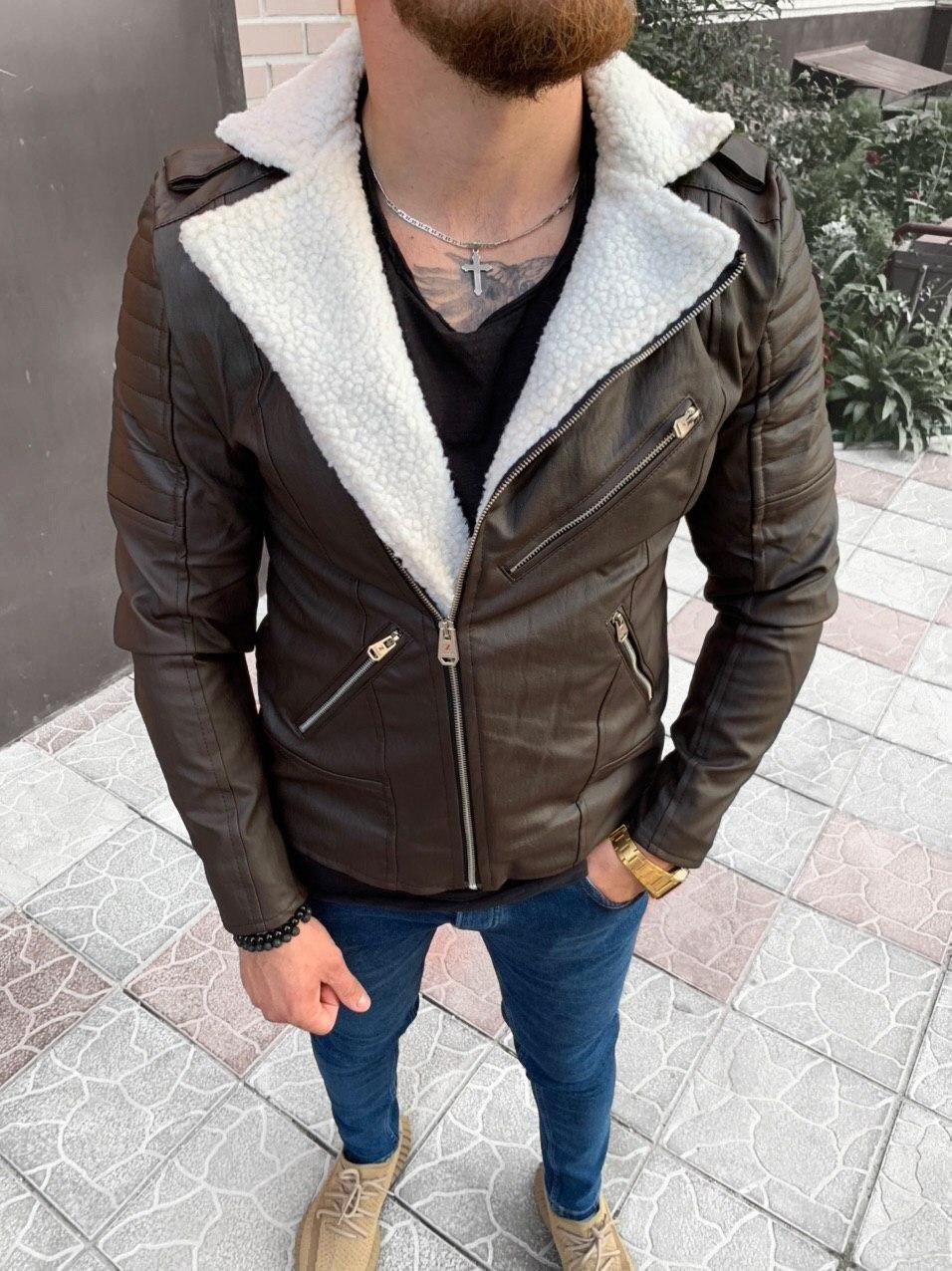 Мужская косуха коричневая 78-117