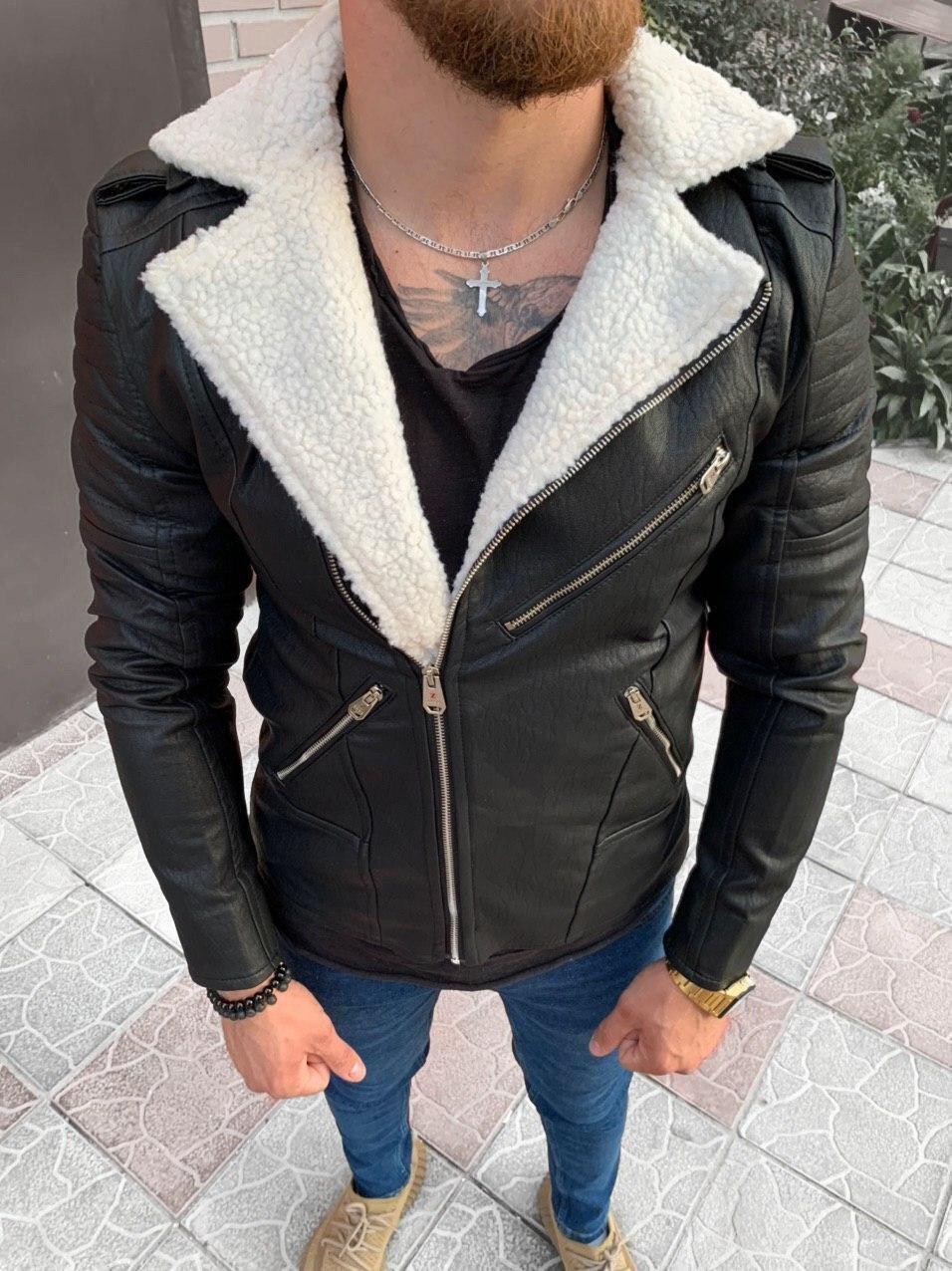 Мужская косуха черная 78-119