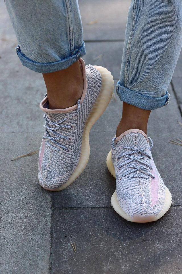 Женские кроссовки Adidas Yeezy Boost 350 рефлективные фото