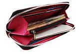 Кошелек женский кожаный клатч большой travel SULLIVAN  фуксия, фото 2