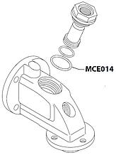 MCE014 Гумовий ущільнювач(у пост), OR 0250-40, NBR, MCE