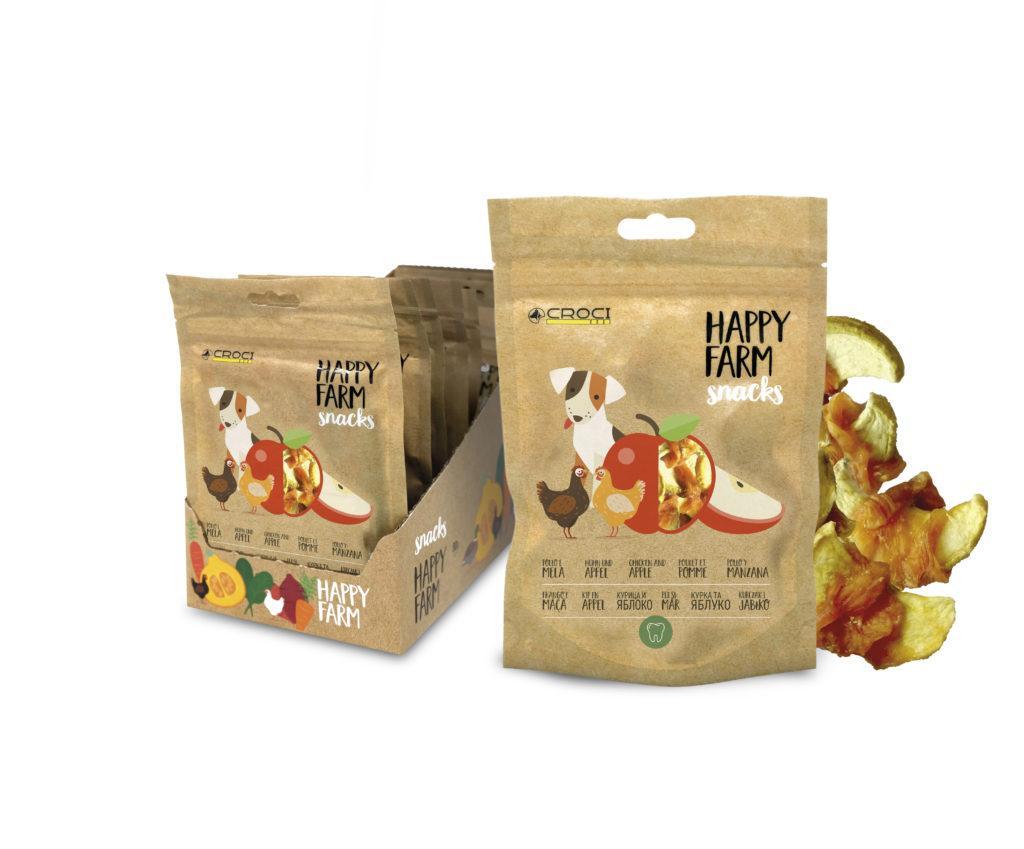 Лакомства для собак курица с яблоком CROCI HAPPY FARM 80 г