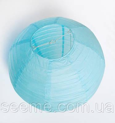 Шар подвесной декоративный «Плиссе Классик», диаметр 45 см.Цвет голубой