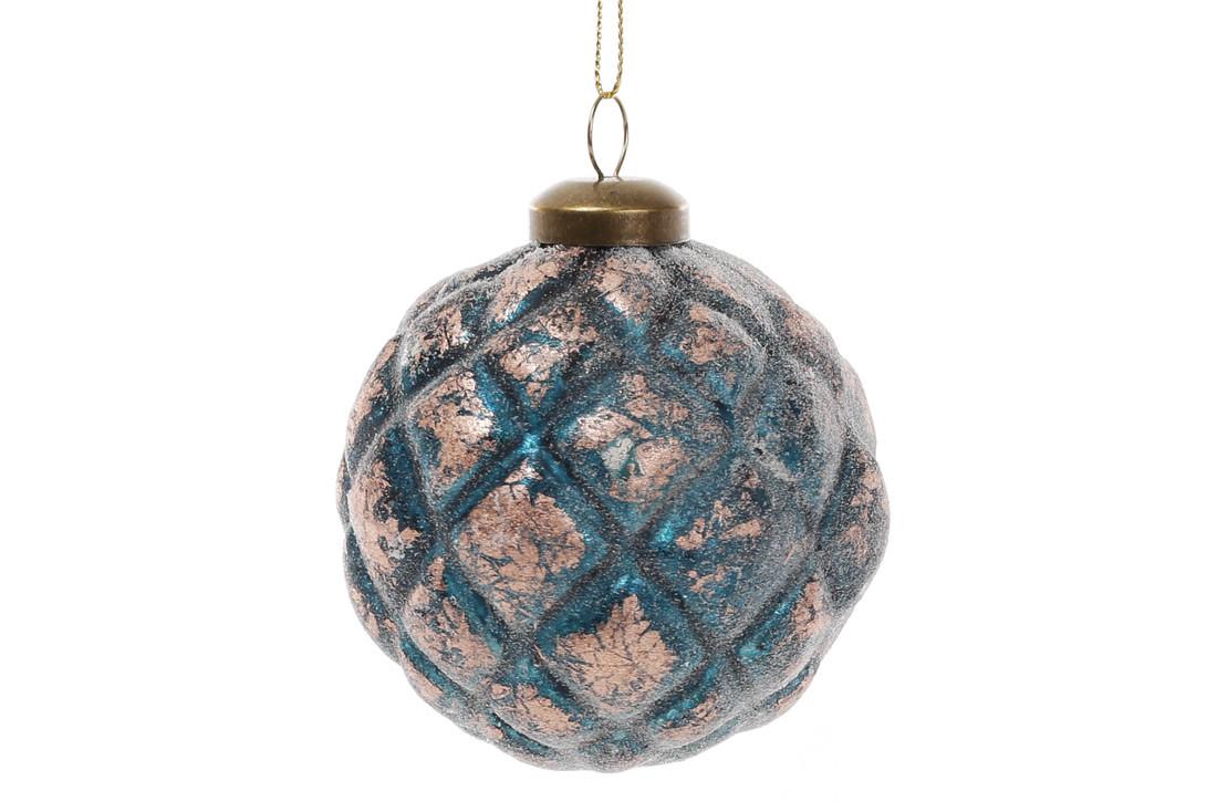 Елочный шар 8см, цвет - королевский синий